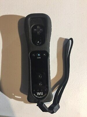 Nintendo Wii U Black Remote Controller Motion Plus Official Tested w/ Sleeve