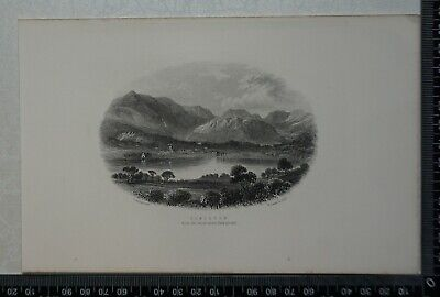 c1875 - Coniston from the wood above Bank ground - Lake District