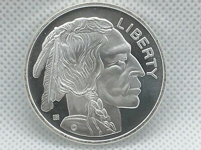 Buffalo Indian Head 1 Troy Oz .999 Fine Silver Liberty Coin Round Medal