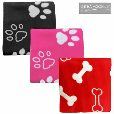Dreamscene Large Pet Fleece Blanket Warm Animal Print Soft Cat Dog Bed Throw Mat