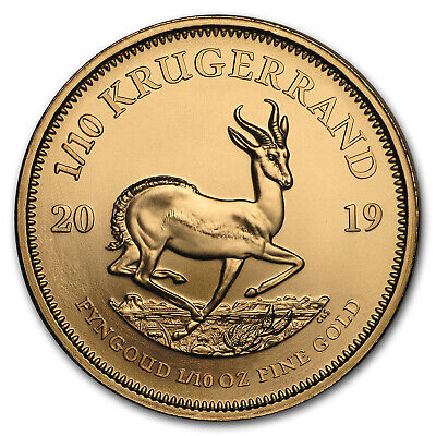 2019 South Africa 1/10 oz Gold Krugerrand - SKU#170424