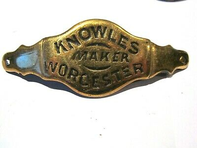 Knowles  Worcester  Double Hinge Antique Advertising Bridle Nose-Band.