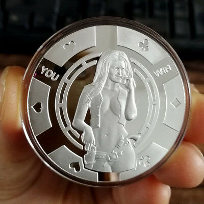 Hot Sexy Cowgirl You Win,  1 Troy oz .999 Fine Silver Bullion Coin New!