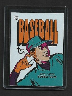 2018 Topps 80th Anniversary Wrapper Art  #3 1972 Topps BASEBALL - SOLD OUT!