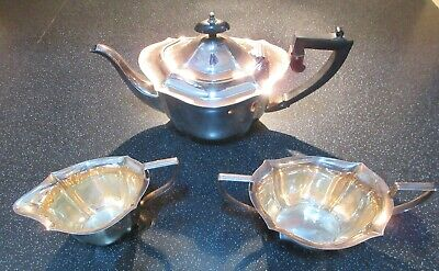 Vintage Silver Plated EPNS Teapot, Sugar Bowl And Milk Jug