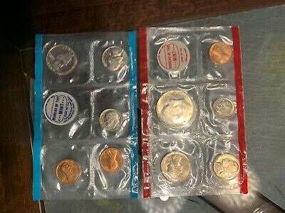 1969 US mint uncirculated coin set Denver/San Francisco