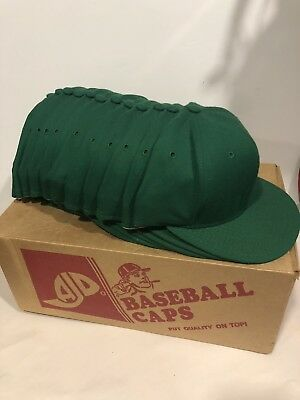 Wholesale NEW LOT 12 KELLY GREEN WOOL Baseball Hats Caps Blank No Graphics