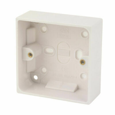 Pifco 25mm Deep Single 1 Gang Surface Mount Pattress Back Box Wall Socket Switch