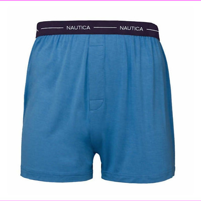 NAUTICA Man's MODAL BOXER 3PK L Blue/Light Blue/Navy