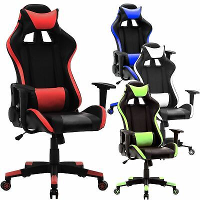 Gaming Racing Chair Office Executive Recliner Adjustable Fx Leather