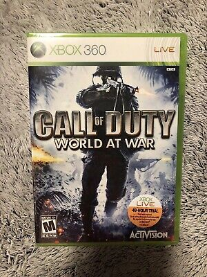 Call of Duty: World at War Microsoft Xbox 360 Game Original Launch New Sealed