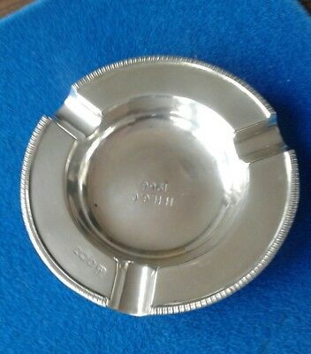 Sterling Silver Ash Tray .hallmarked Sheffield 1964 . Cooper Brothers & Sons