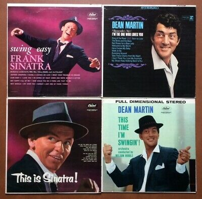 This Is FRANK SINATRA Swing Easy DEAN MARTIN Lot of 4 Vinyl LP RECORDS 1950s 60s