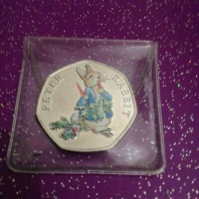 2018 Uncirculated Coloured Peter Rabbit 50P