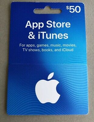 New $50-Value App Store & iTunes Gift Cards - $50 Value