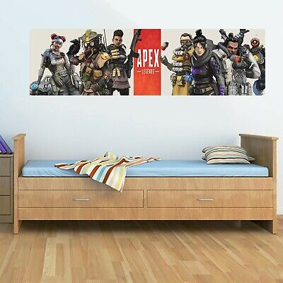 APEX LEGENDS WIDE Wall Poster 130cm x 40cm PC Game Characters Bedroom Kid's