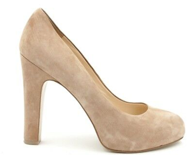 cc10d1577766 NINE WEST Women US 8.5M Tan Suede Scardino Platform Pump Career Dress Round  Toe