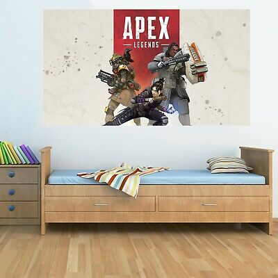 APEX LEGENDS 3 Characters Wall Poster 130cm x 75cm PC Game Xbox Bedroom PS4