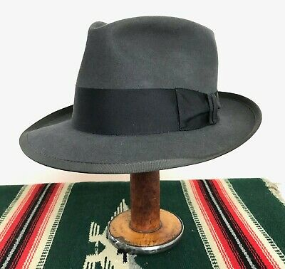Vtg 1950s Royal STETSON Fedora 7 to 7 1/8 ~ WHIPPET Clone work wear 50s Hat