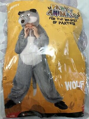 Smiffy's Kids Animal Costume WOLF Fancy Dress For 7-9 Y World Book Day