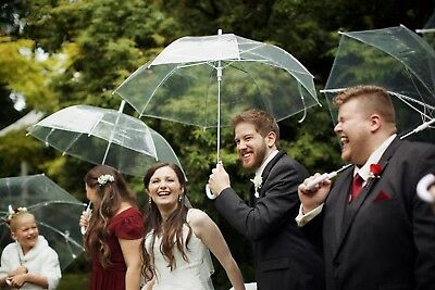 BULK 10 x Clear Wedding Umbrellas - Weddings, Photoshoots - 103cm diameter