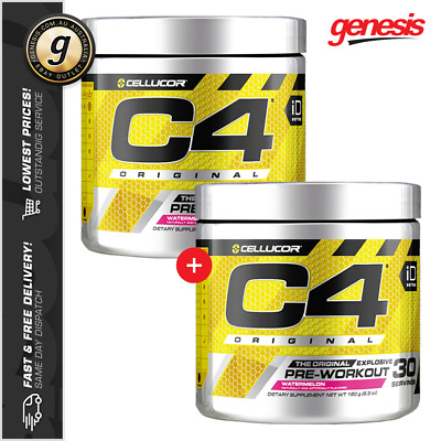 2 X C4 Original ID Series by Cellucor - 30 Serves - Pre-Workout Combo!