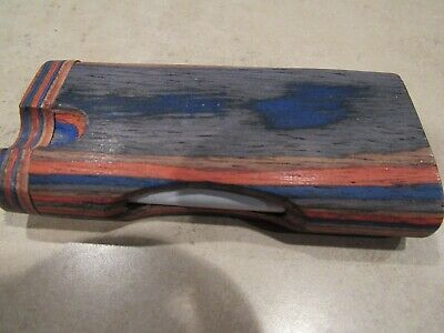 "4"" Wooden Dugout & 3"" Aluminum Bat - Beautiful Color And Detail - Veteran Owned"