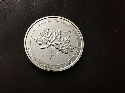 2017 Canada $10 TWIN MAPLES Rare 2 oz..999  Silver Coin Only One On Ebay