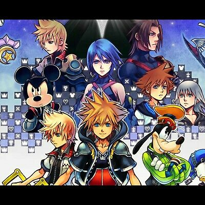 kingdom hearts Game Art Silk Canvas Poster Wall Art Picture Print 24x32 inch