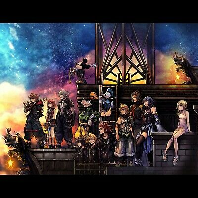 Kingdom Hearts poster wall art home decor photo print 24x24 inches