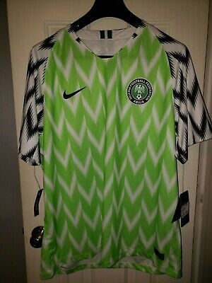 separation shoes f2e81 1cecb AUTHENTIC NIKE NIGERIA Jersey XL with Tags - 2018 World Cup
