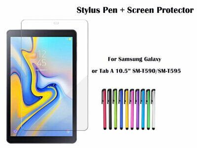 Screen Protector + Stylus Pen for Samsung Galaxy Tab A 10.5  T590 T595