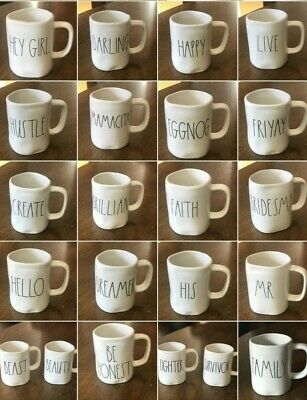 """Brand New Rae Dunn """"YOU CHOOSE"""" Mugs Large Letter *SAVE ON SHIPPING*"""