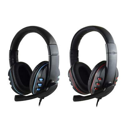3.5mm Stereo Gaming Headset MIC Headphones For PC Mac Laptop PS4 Slim Xbox One