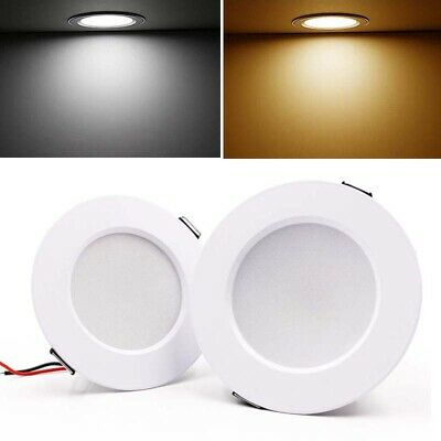 5W 9W 12W 15W LED Recessed Ceiling Panel Down Lights Bulb Slim Lamp Fixture