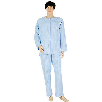 Comfy Patient Pajamas Sleepwear Clothes Suit for Bedridden Elderly Nursing