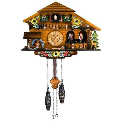 Kintrot Cuckoo Clock Black Forest House Chalet Wall Pendulum Home Decor