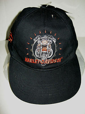 Harley Davidson Youth Baseball Cap W/Front of Motorcycle, Size 8-18, Brand New