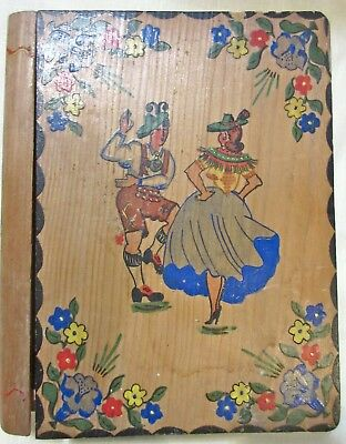 Antique Hand Made/Painted Wooden Book Safe - Austria/Germany - Early 1900's