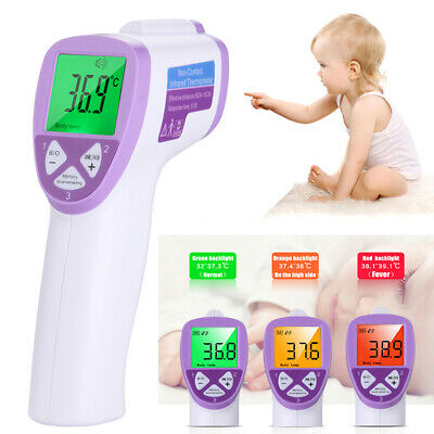 Professional LCD IR Infrared Digital Thermometer Forehead Baby Kid Adult