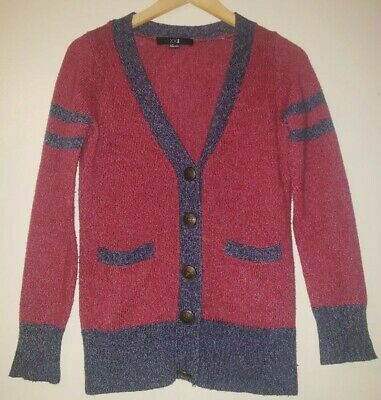 XXI Los Angeles womens cable-knit cardigan sweater size S longsleeves dark  red 5e658a849