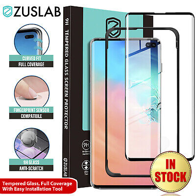 S10 S10e S10+ Plus Zuslab Tempered Glass Full Cover Screen Protector for Samsung
