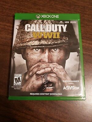 Call of Duty: WWII (Microsoft Xbox One, 2017) Excellent Condition