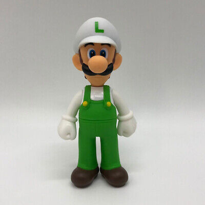 Super Mario Odyssey Fire Luigi Figure Toy Super Vinyl Plastic Doll 5.5""