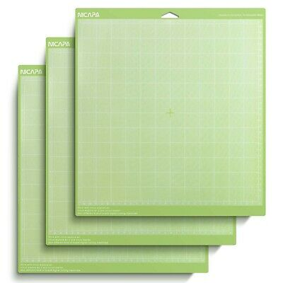 Green Standard Adhesive Cutting Mat for Cricut, 12 by 12-Inch (3 Pack)