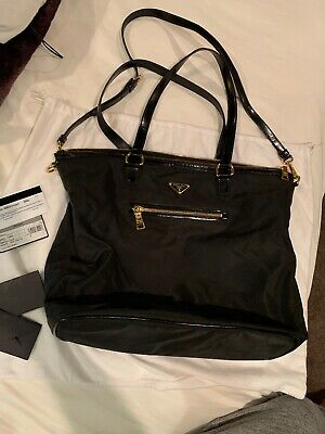 CLASSIC PRADA SHOPPING Tote Tessuto Calf Black Nero -  629.00  e8e46dec38795