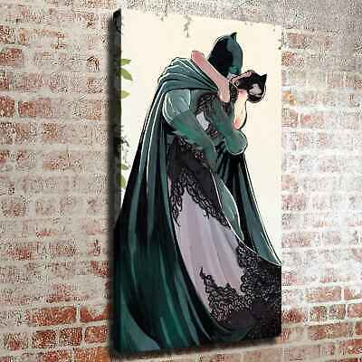 Batman kiss catwoman HD Canvas prints Painting Home decor Poster Wall art 126449