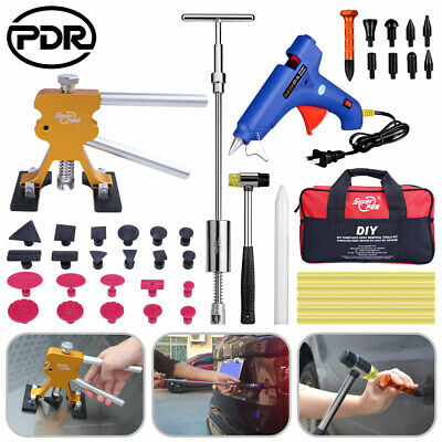 44Pcs PDR Dent Paintless Dent Removal Lifter Hail Repair Slide Hammer Tool Kit