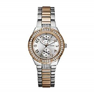 NEW AUTHENTIC guess mini prism rose gold   silver tone stainless watch  w15065l2 ee78ef9af501d