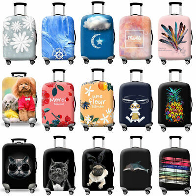 """Travel Luggage Cover Protector 18""""- 32"""" Elastic Printed Suitcase Skin Case Cover"""